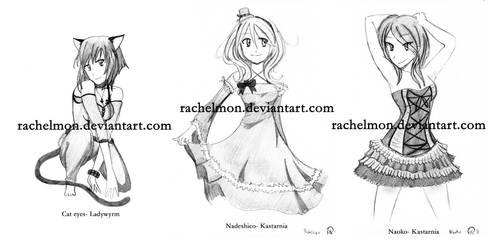 pencil commission set 1 by rachelmon