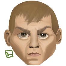 the doom marine's face