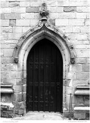 Old Church Doorway by In-the-picture