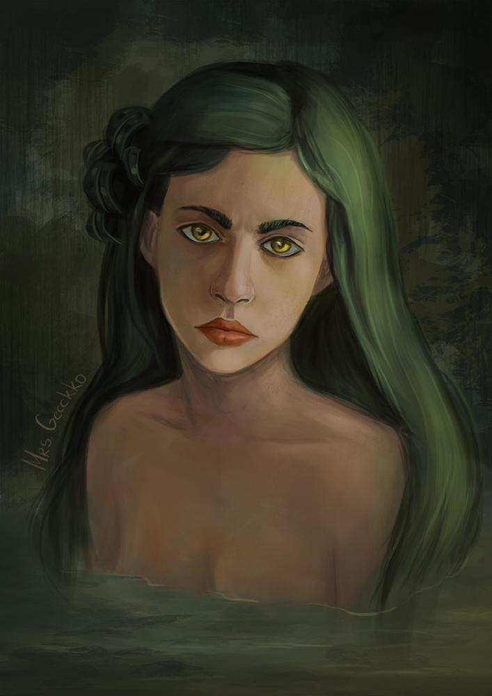The Green Mermaid by Ne-Dremlet