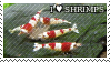 I love shrimps stamp by TinyFeatherpants