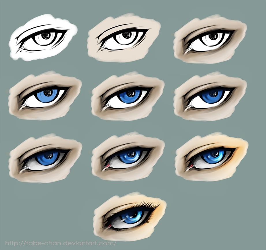 Eye coloring tutorial SAI by Tabe-chan on DeviantArt
