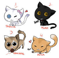 Cute chibi kittens AUCTION by Tabe-chan