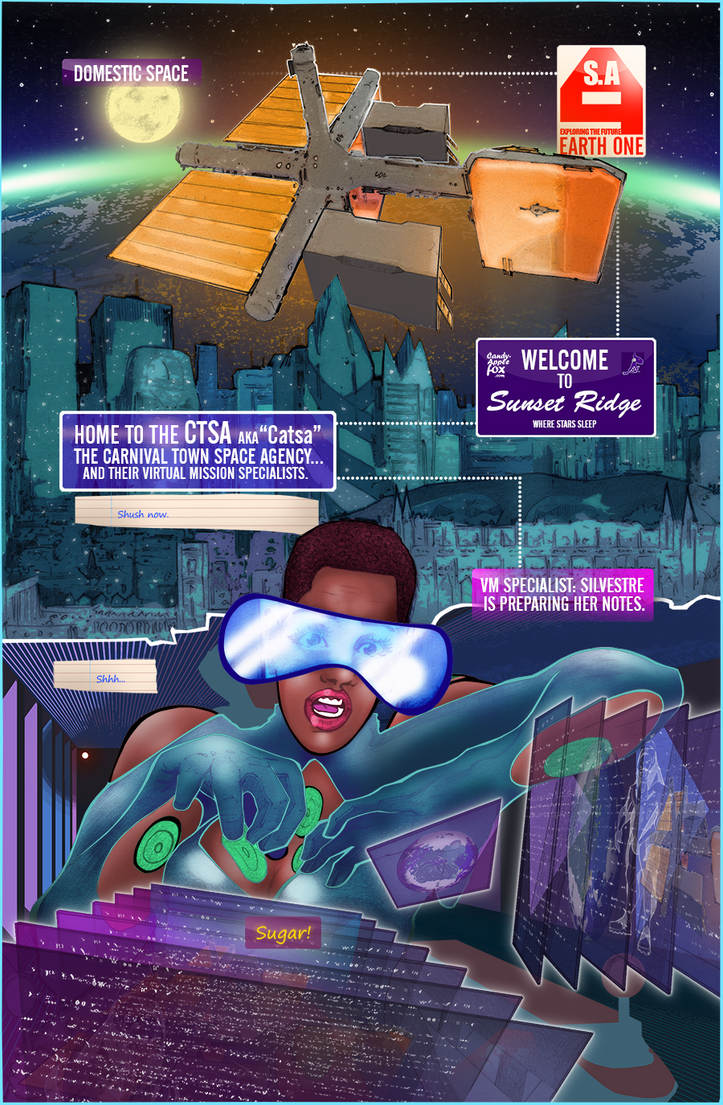 The Sci-My Lie Issue1 Page2, a new weekly WebComic by CandyAppleFox