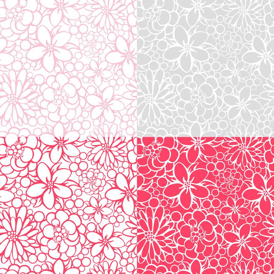 Flowers Pattern 2 by JuliaPainter
