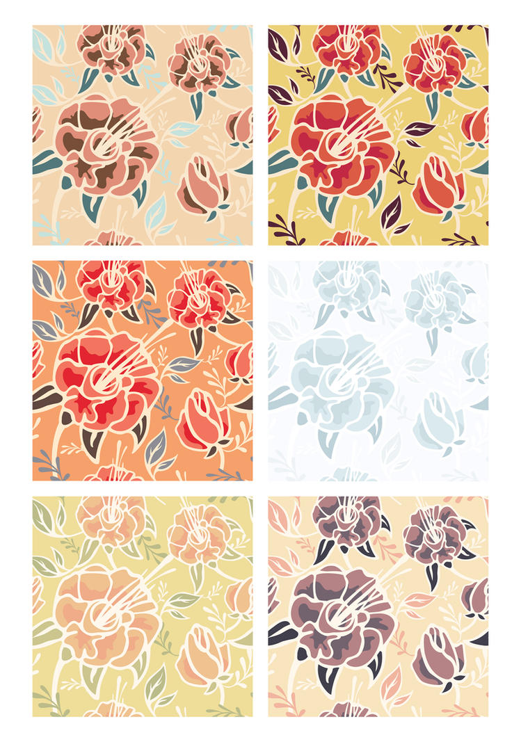 Flowers Patterns. by JuliaPainter