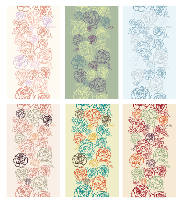 Flowers Patterns by JuliaPainter