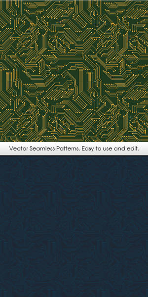 Vector Seamless Pattern. Chip.
