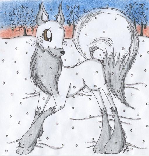 Merry Christmas Snowy Vixen by melodythelittlepony
