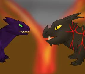 Lava battle
