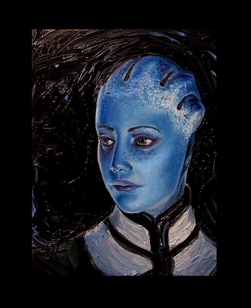 Mass Effect Oils -Liara- by SeanDonaldson