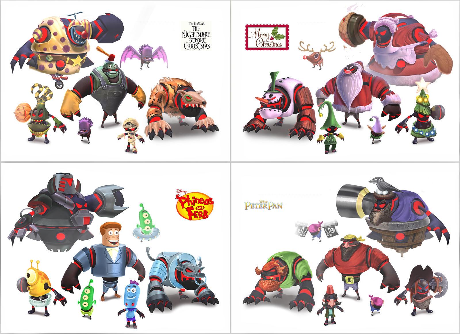 Disney Universe Bad Guy Concepts