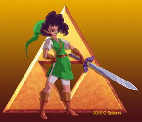 Legend of Zelda: Fem Link by Dawgweazle
