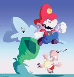 Super Mario by Dawgweazle