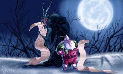 Santa and Krampus by Dawgweazle