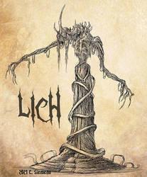 Sketch Commission: Lich by Dawgweazle