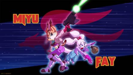 Star Fox: Miyu and Fay by Dawgweazle