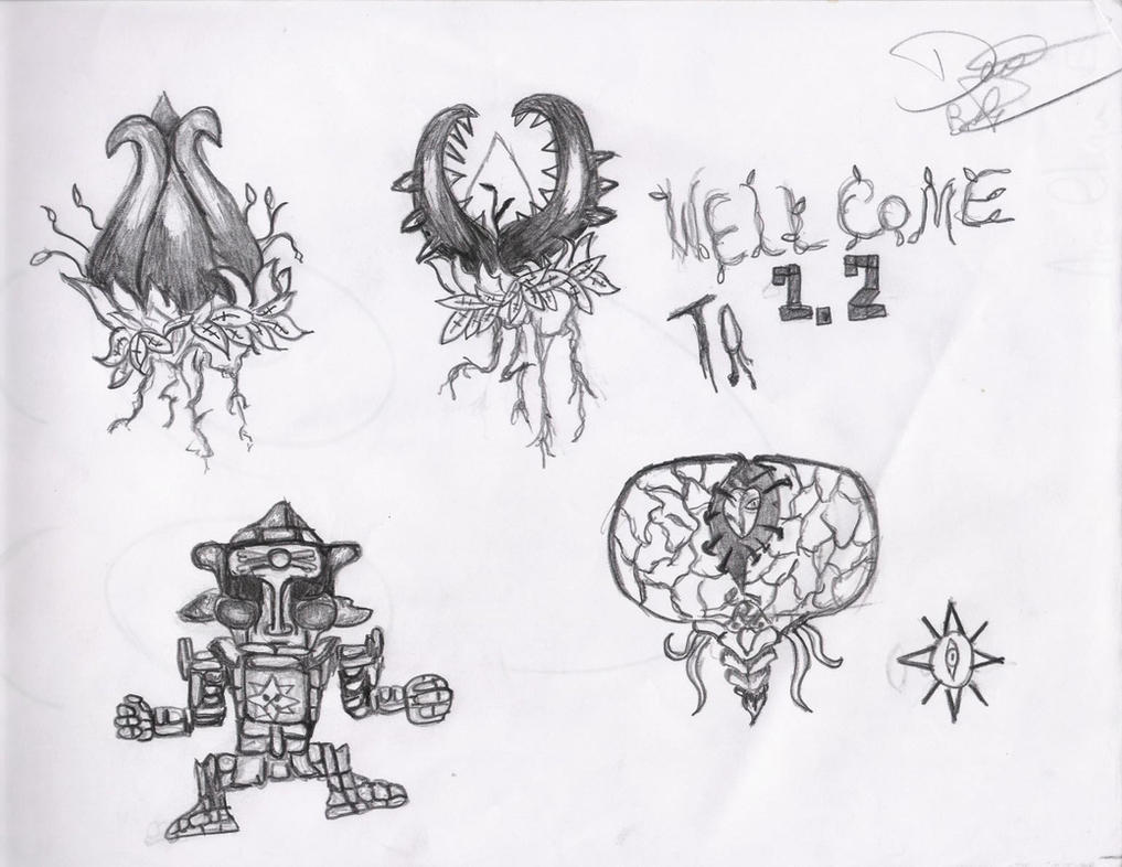 terraria coloring pages - terraria 1 2 bosses by davexx100 on deviantart