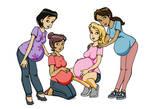 Request: pregnant 'Reading Womb' ladies