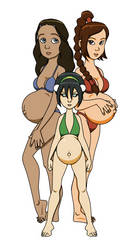 Request: pregnant Katara, Toph and Ty Lee by amiwakawaiidesu