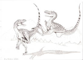 Velociraptors by TheRaevyn13