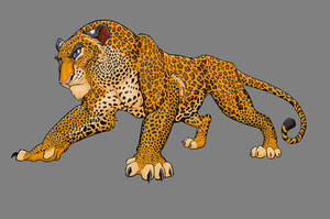 Leo the Leopard - MSPaint by TheRaevyn13