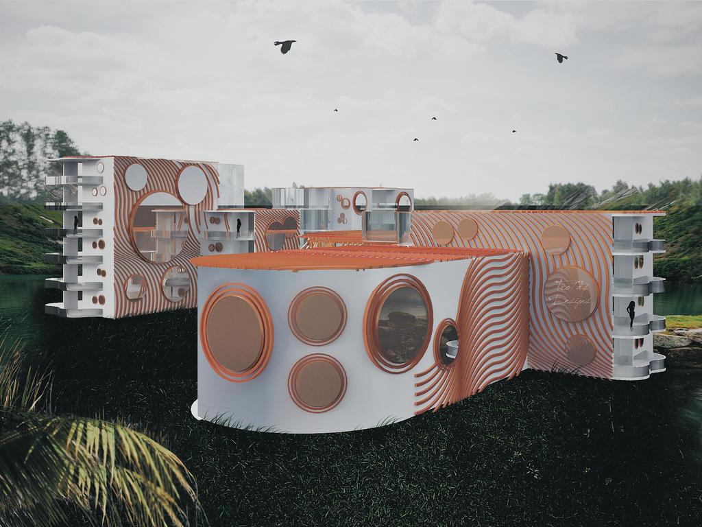 Final 3D of Worm housing