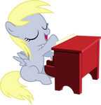 Filly Derpy - Playing The Piano