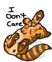 I Don't Care Kitty marked by WolfRunner27