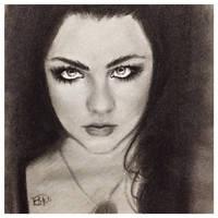 Amy Lee Charcoal Sketch
