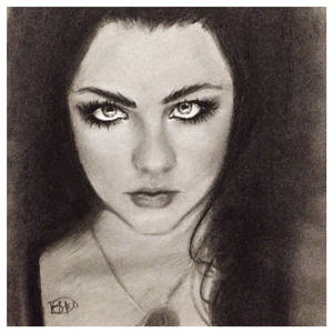 Amy Lee Charcoal Sketch
