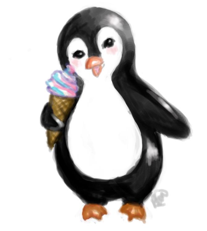 Penguin presketch by brandymarie87
