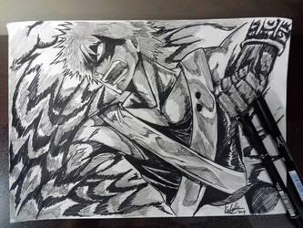 Inktober day 6 - Katsuki Bakugou by E-KOLOVOS