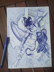 devilman sketch by E-KOLOVOS