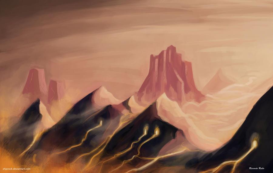 Mountain by shiprock