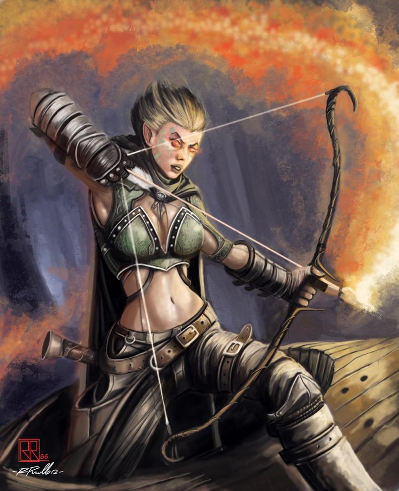 Fire arrow by shiprock