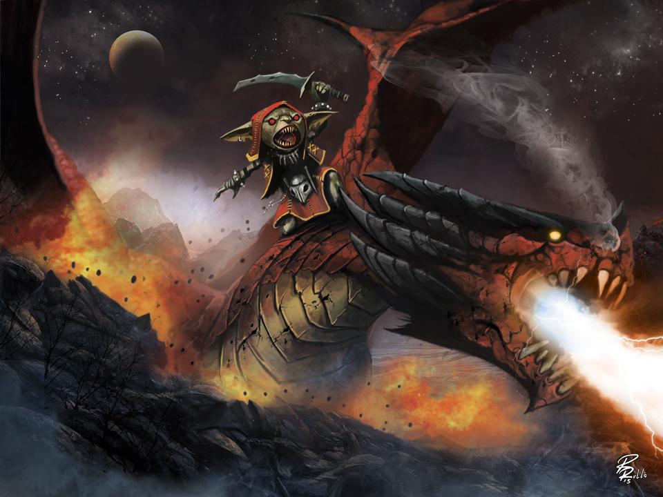 Portfolo Goblin Ride A Red Dragon D By Shiprock On DeviantArt