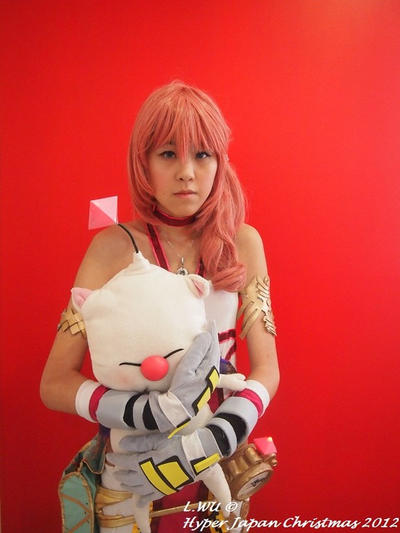 Serah Farron with Moogle by WuCosplay