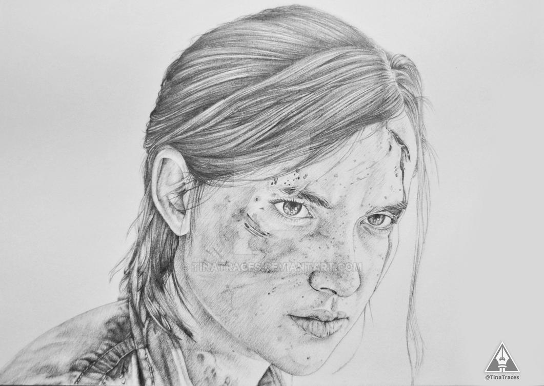 Pencil drawing ellie the last of us part 2 by tinatraces