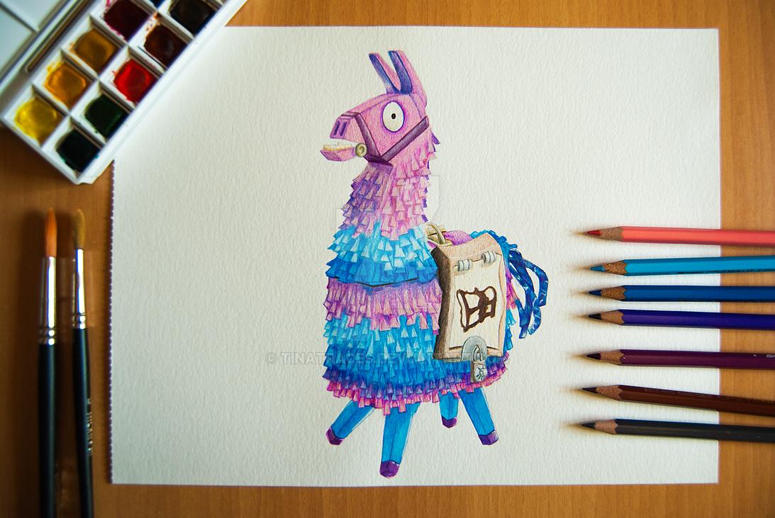 Fortnite Llama Drawing