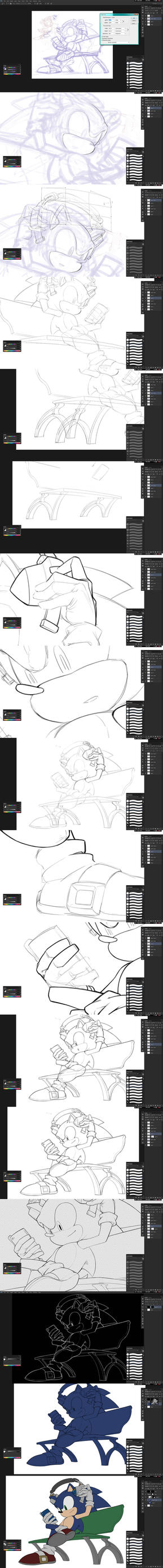 line art process by inualet