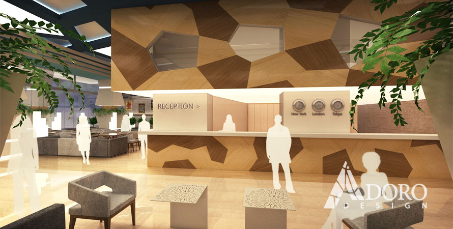 Hotel reception interior design 2 by adorodesign on deviantart for Design hotel reception