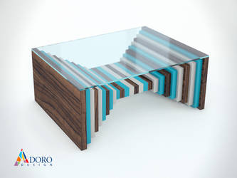 Product Design Coffee Table Studio Rendering