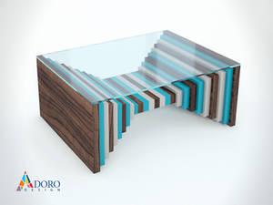 Product Design Coffee Table Studio Rendering