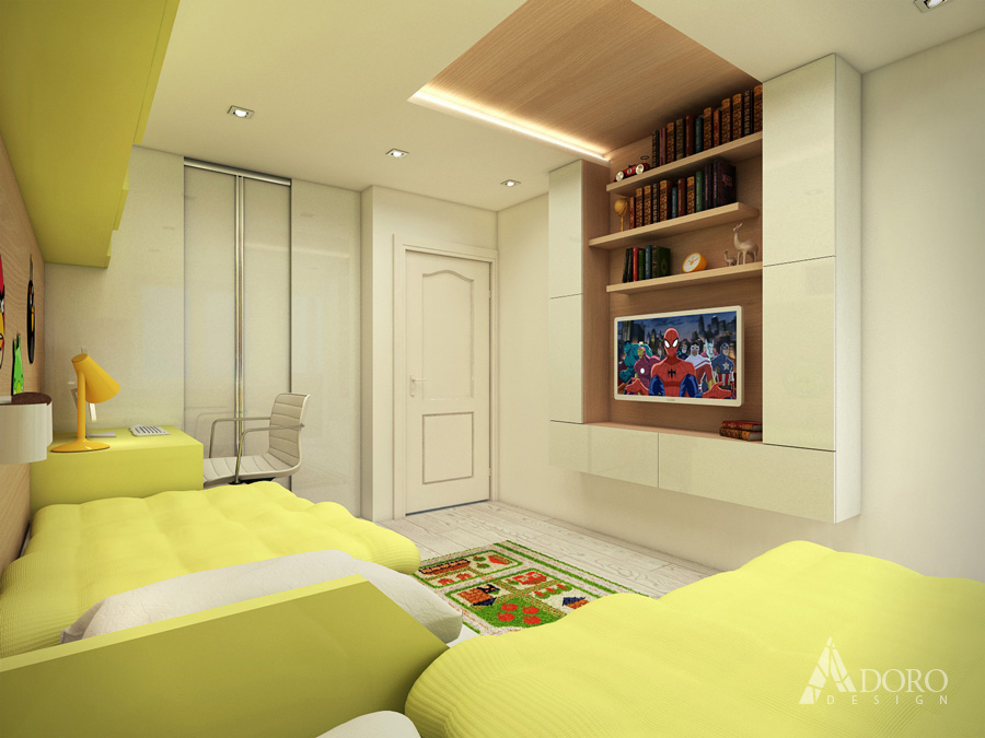 Kids Bedroom Interior Design by adorodesign