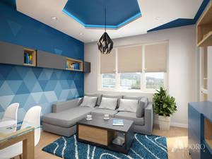Underwater color living room