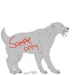 Shorthaired Conformation Smilodon p. by danganadopts