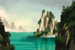 Tranquil Mountains Speedpaint by saraneth672