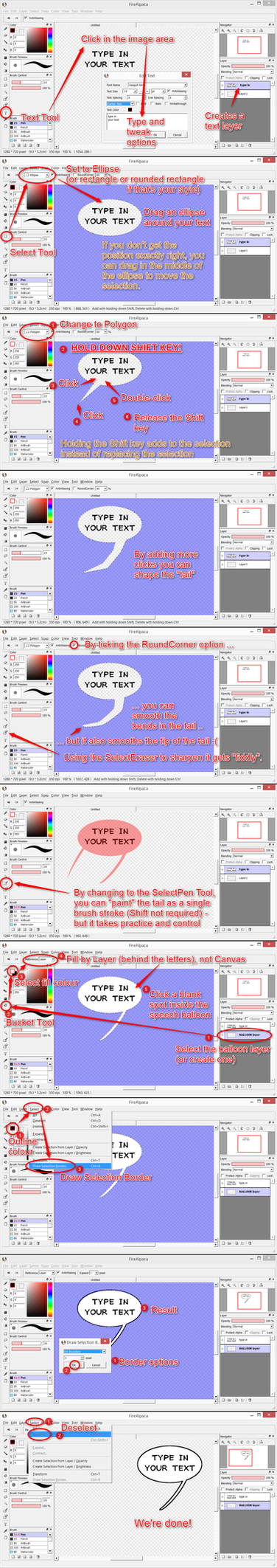 Speech Balloons in FireAlpaca using Selections by obtusity