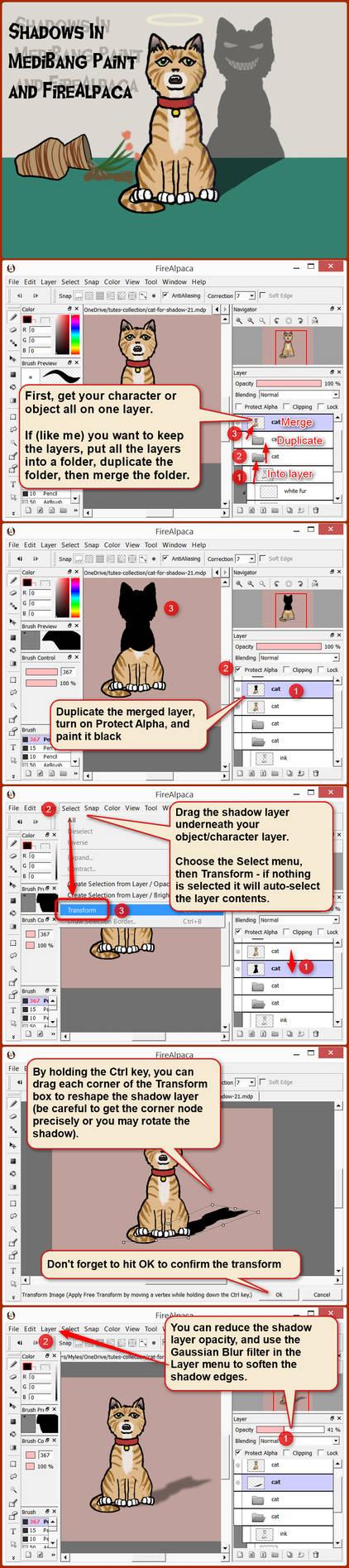 Shadow tutorial for FireAlpaca and MediBang Paint